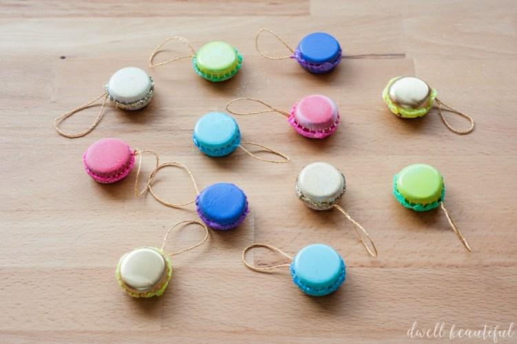 mini french macaron ornament