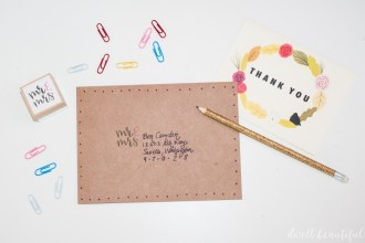 MR AND MRS mint stamp tutorial