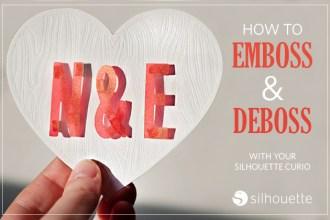 silhouette emboss and deboss valentine's art