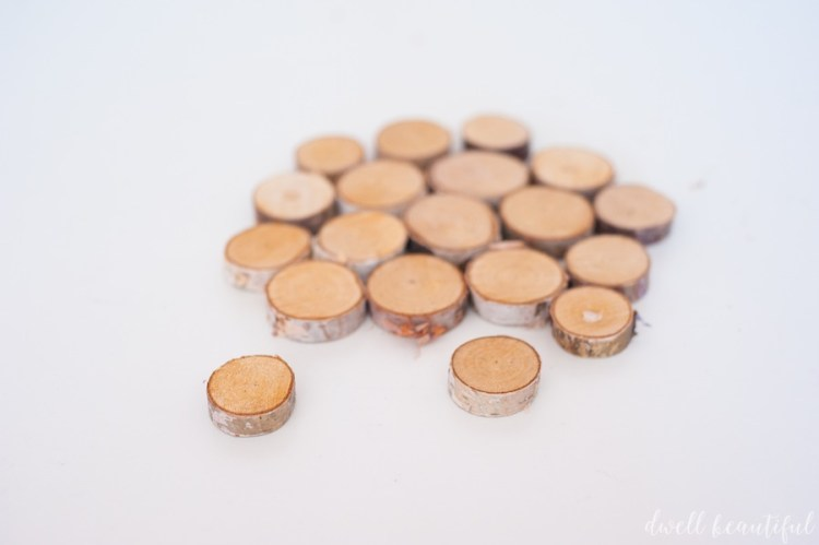 diy mini wood slice trivet