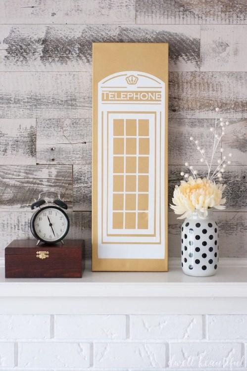 british phone booth art