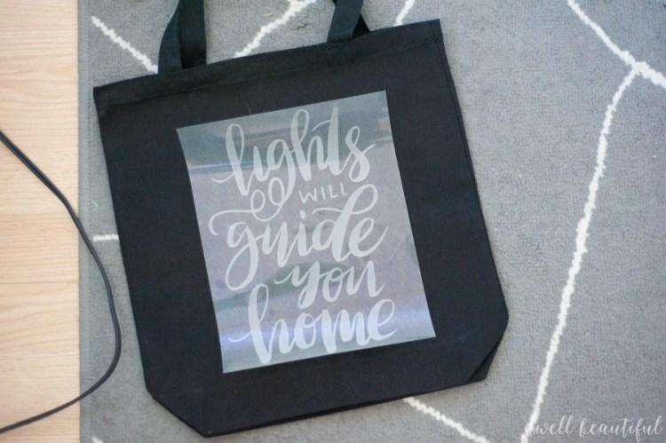 coldplay song lyric tote bag
