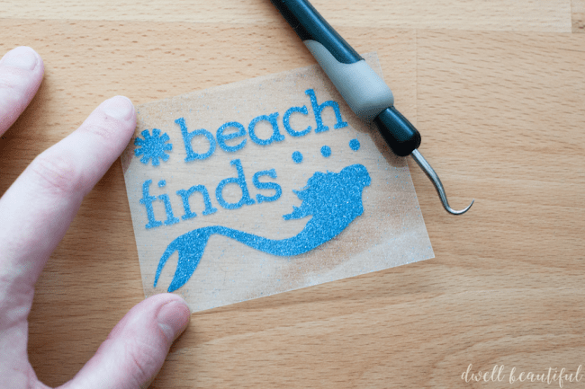 beach finds treasure bag