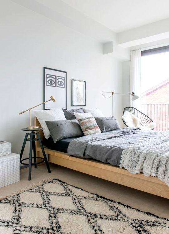 modern bohemian bedroom inspiration - gray