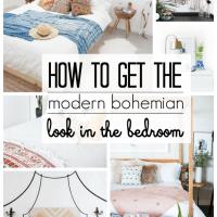 Modern Bohemian Bedroom Inspiration