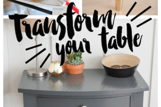Entry Table Makeover
