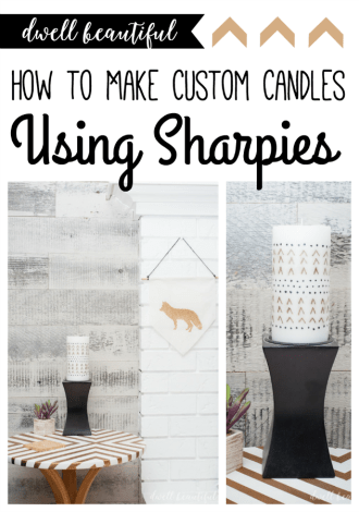 How to Make a Custom Candle Using Sharpies