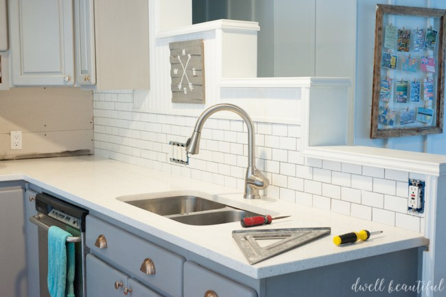 How to DIY a Subway Tile Kitchen Backsplash