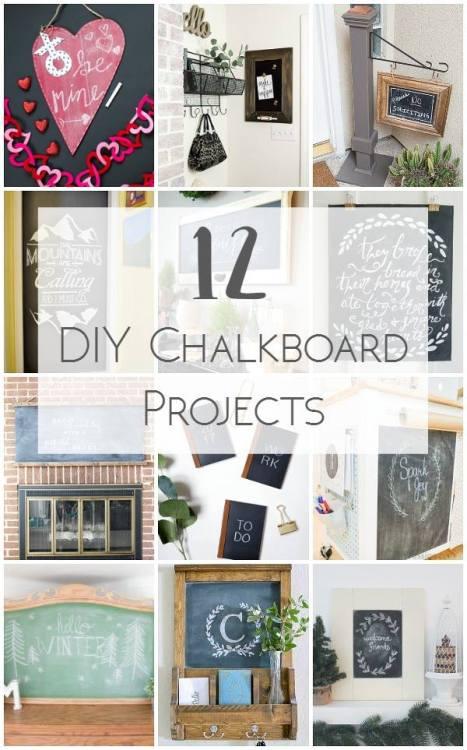 12 DIY Chalkboard Projects
