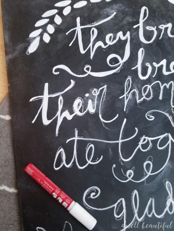 Large DIY Chalkboard Wall Art