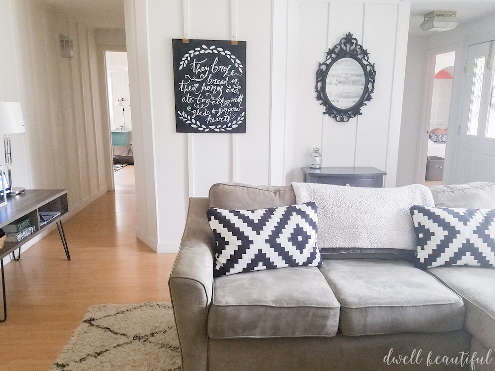 Large DIY Chalkboard Wall Art & Large DIY Chalkboard Wall Art: Monthly DIY Challenge - Dwell Beautiful