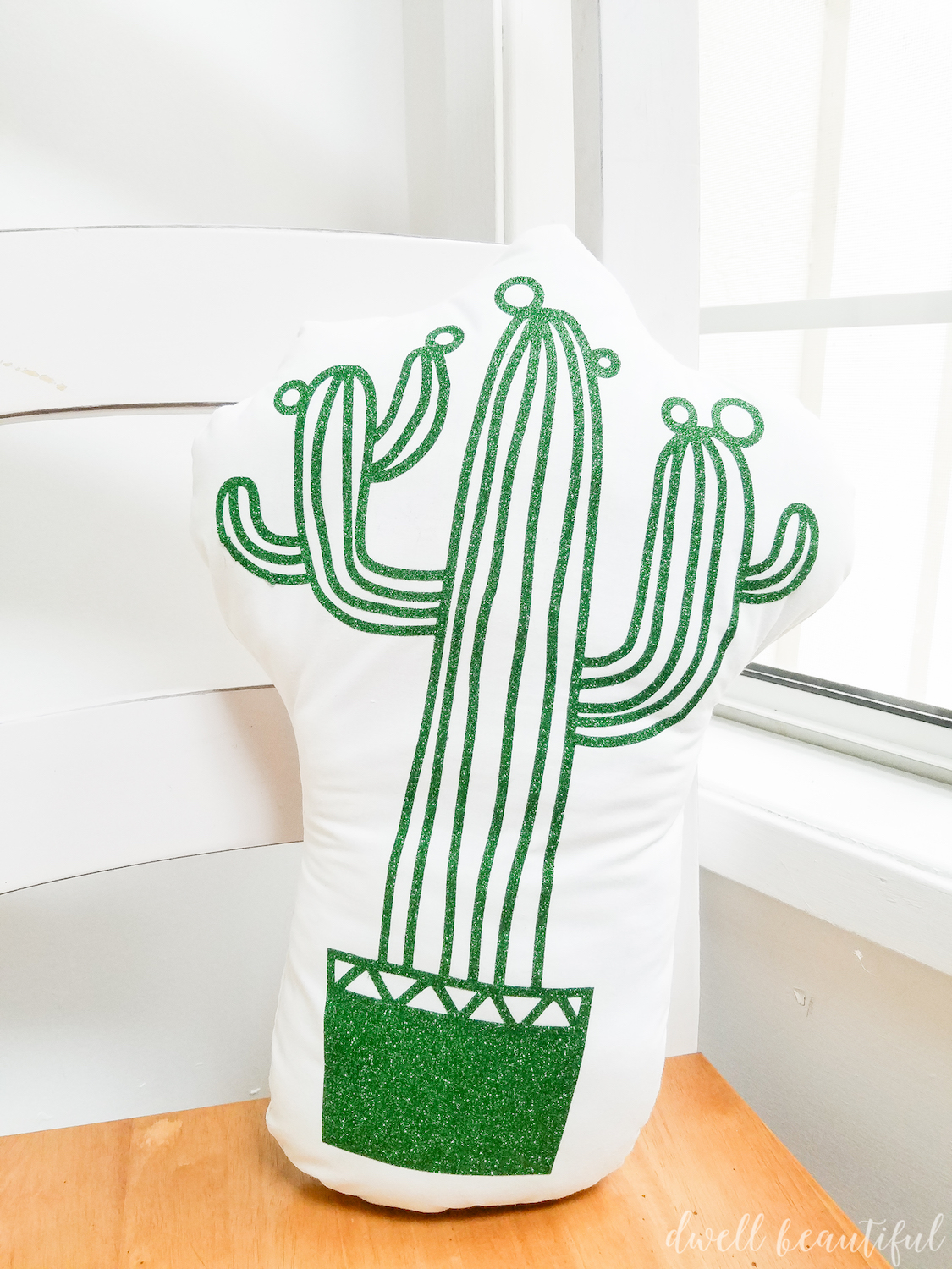How to Make an Adorable DIY Cactus Pillow - Dwell Beautiful