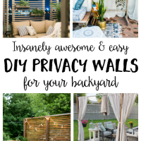 Insanely Awesome and Easy DIY Privacy Walls for Your Yard