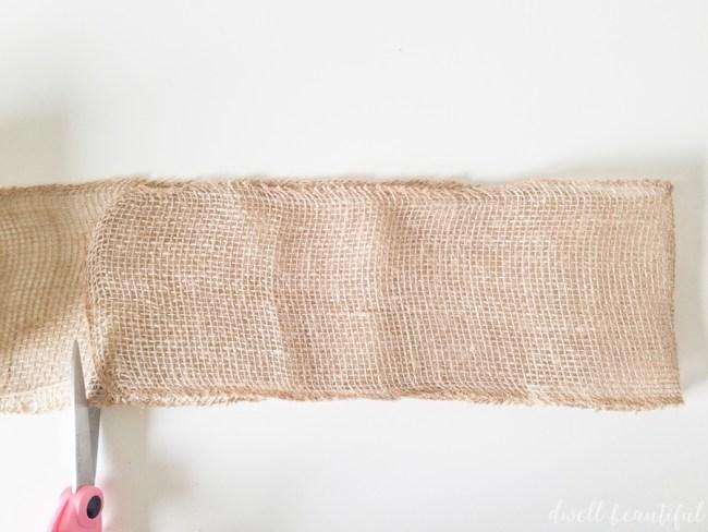 Burlap Ribbon Bohemian Wall Hanging Pouch