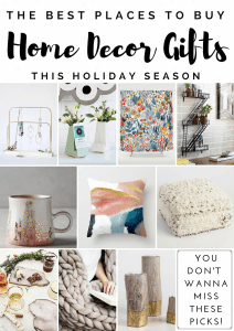 Home Decor Gift Guide – Best Places to Shop for Home Decor Gifts AND a Giveaway!