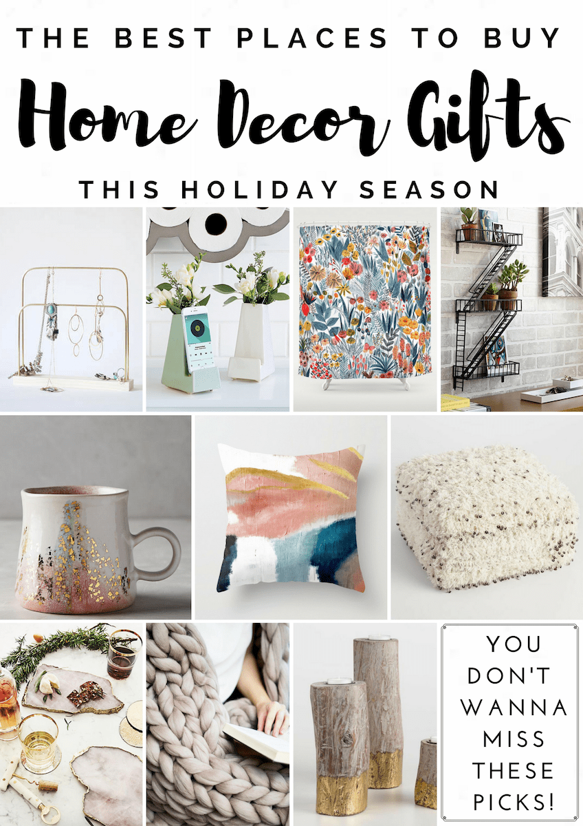 Home Decor Gift Guide   Best Places To Shop For Home Decor Gifts AND A  Giveaway!   Dwell Beautiful