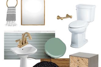 Modern Farmhouse Bathroom Style Board