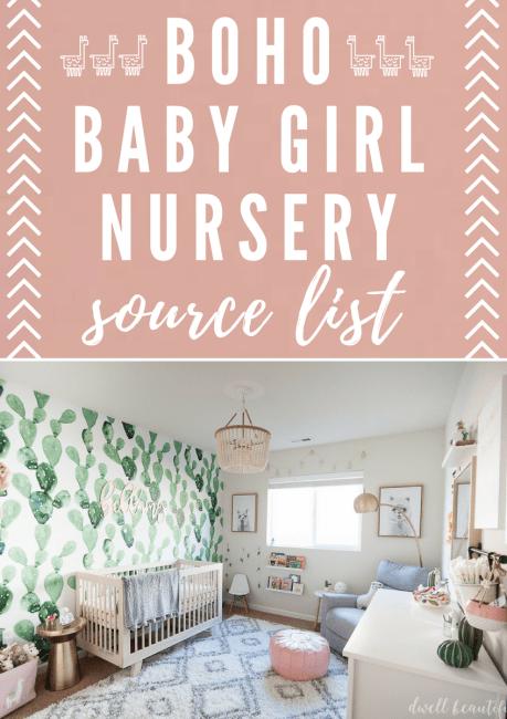 Boho Baby Girl Nursery Source List