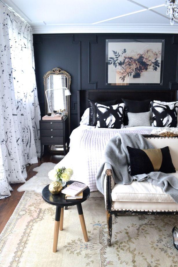 black walls to minimize matching furniture set