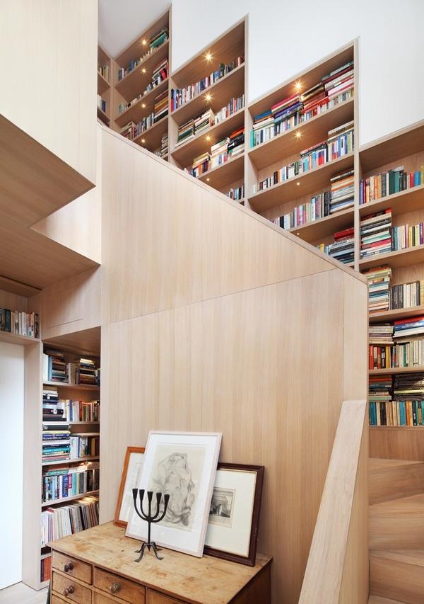 white-oak-staircase-awesome-staircase-design-wall-bookshelves