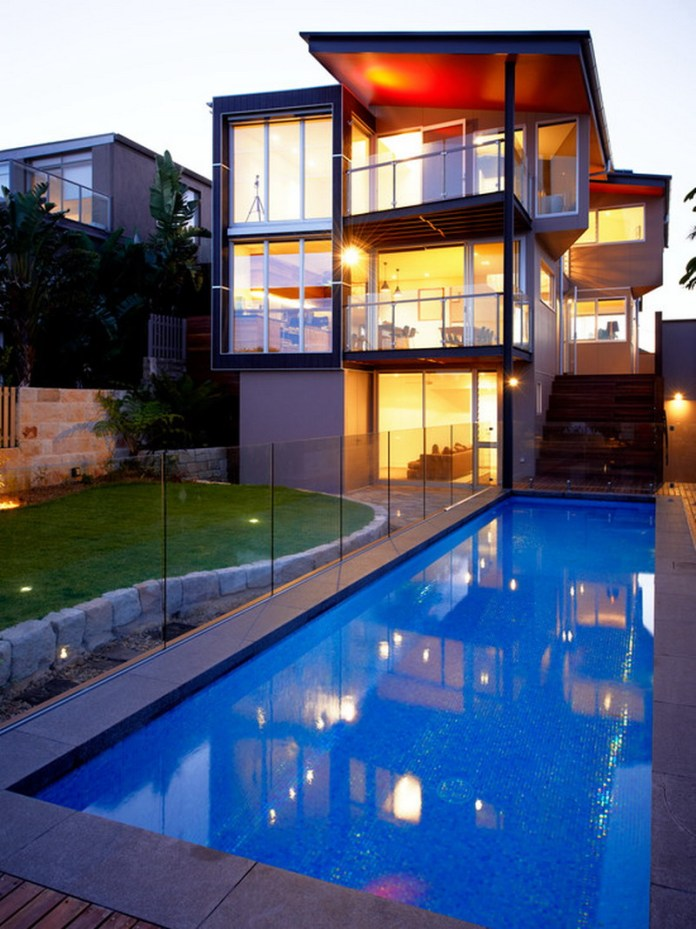 Amazing-Modern-Townhouse-Patio-Pool-Landscape