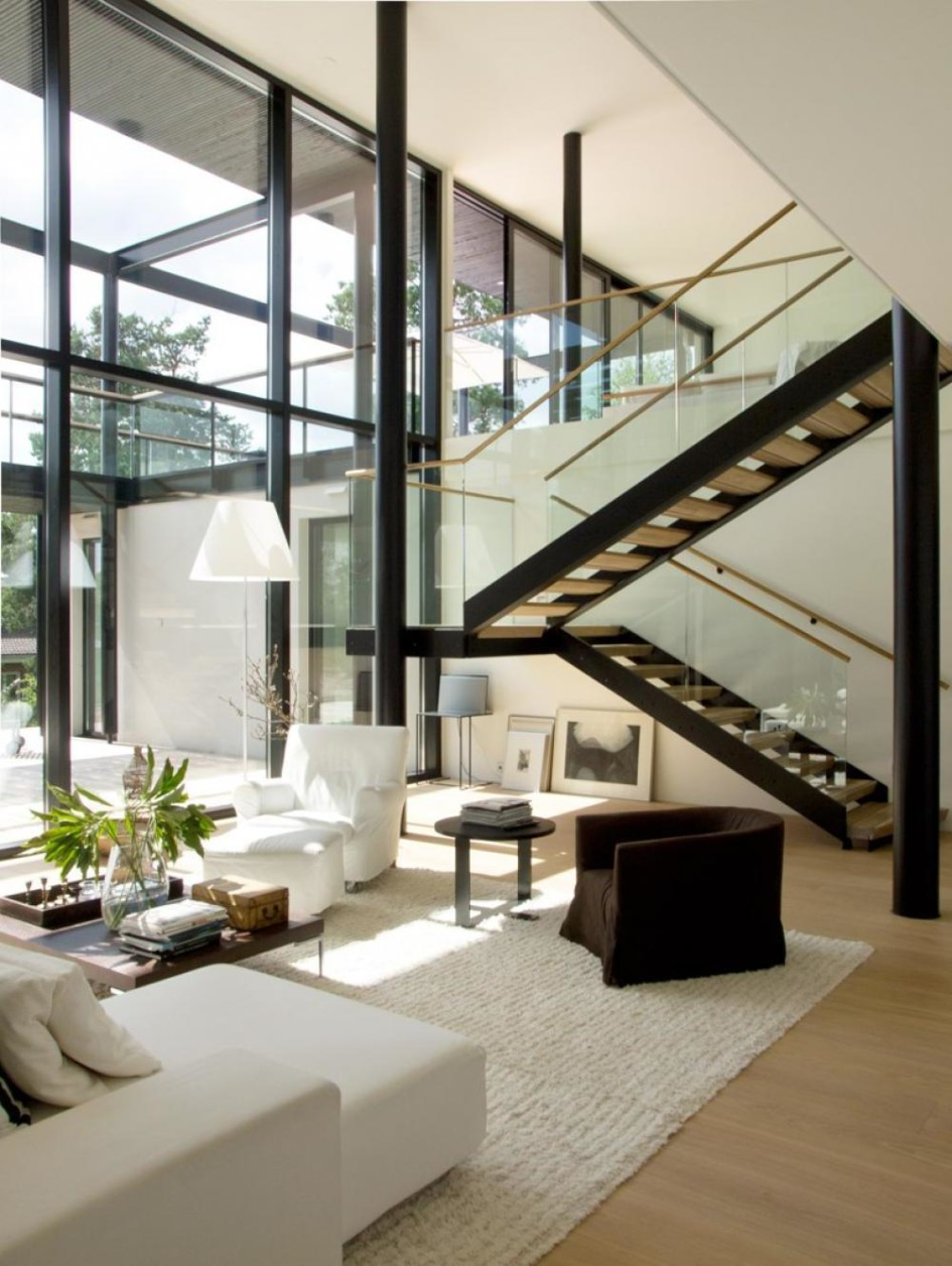 Living Room Design with High Ceilings
