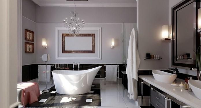 Luxury-modern-bathroom-remodeling-ideas-with-unique-white-bathtub