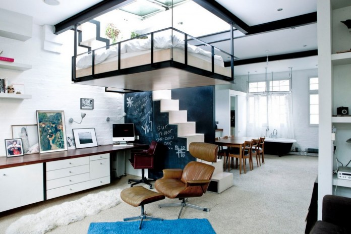contemporary-living-room-and-brown-leather-eames-lounge-chairs