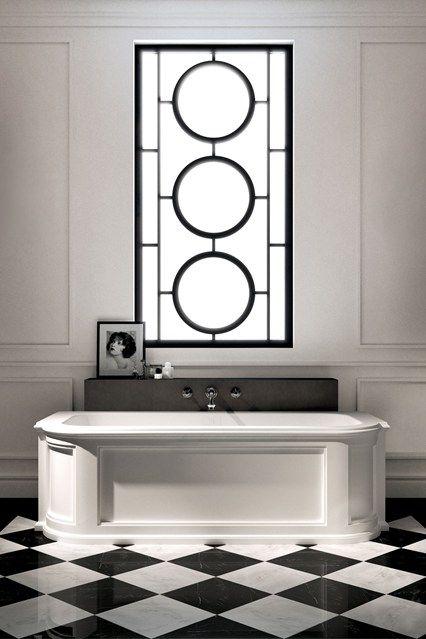 Art Deco Bathroom with Monochrome Colour Palette