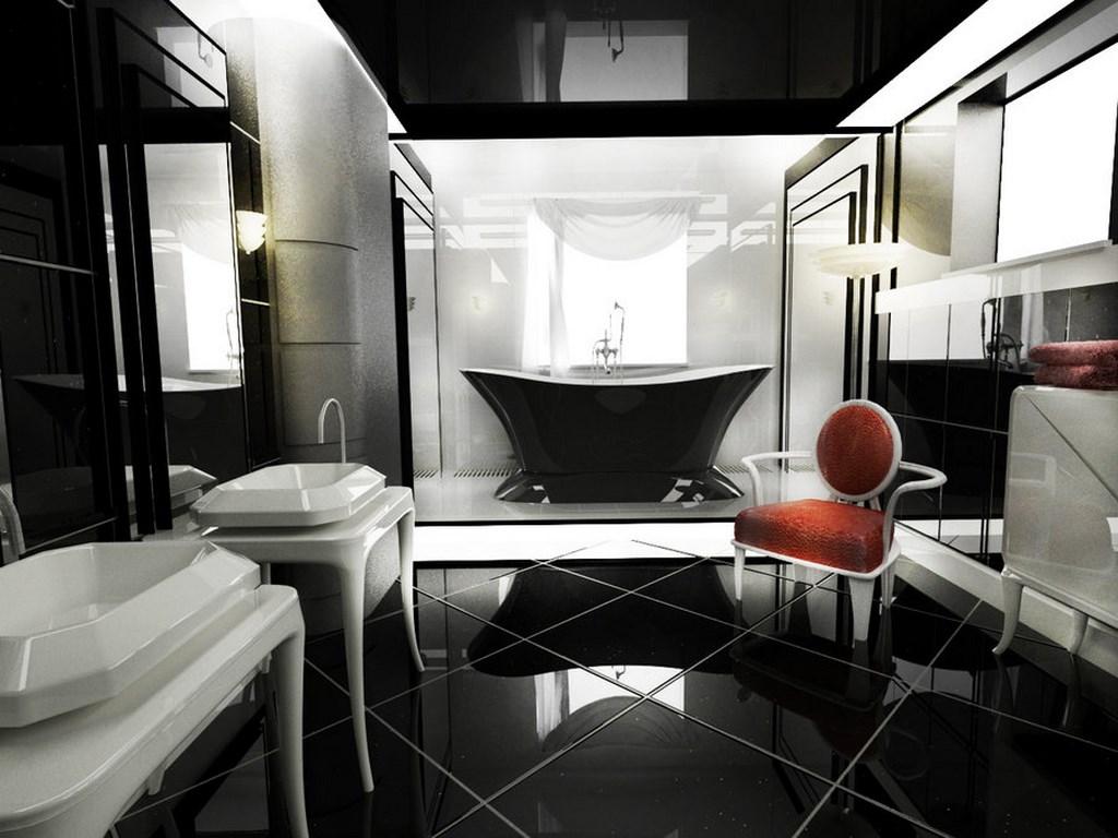 Black Art Deco Bathroom