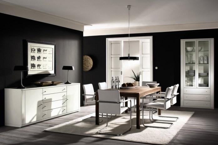 Black & White Dining Room