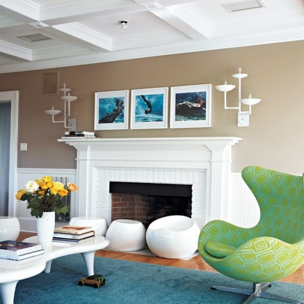 Combine modern styling with coastal colors