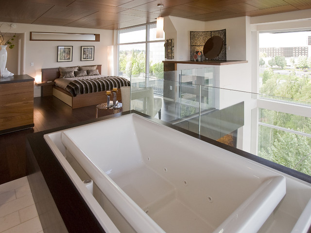 Loft Bedroom Bathroom Suite modern-bedroom