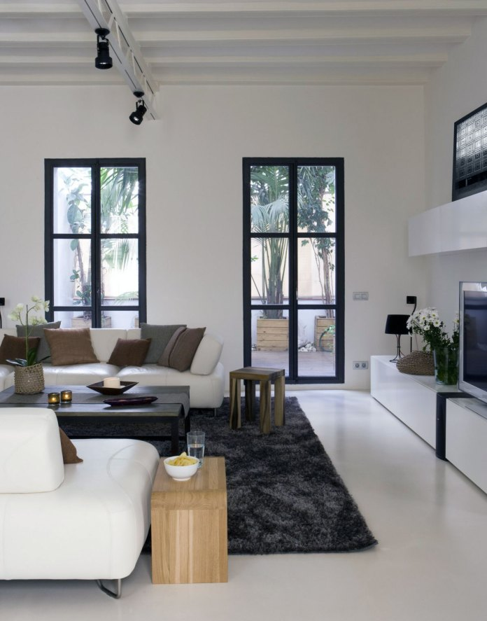 Minimalist White Modern Living Room