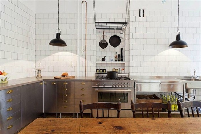 Stainless Kitchen Made from Ikea Components