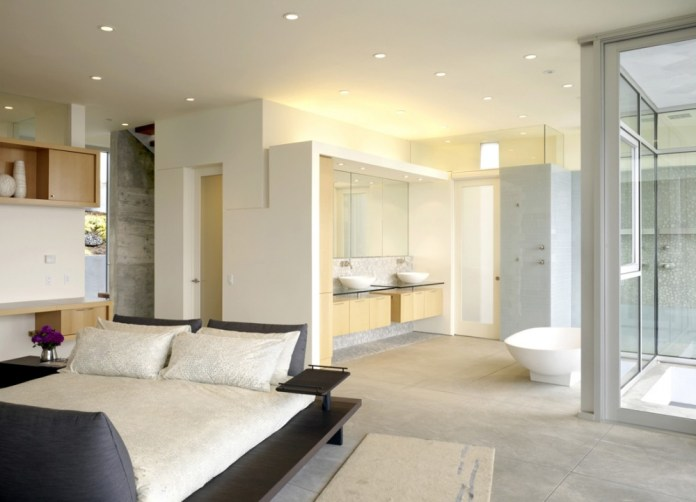 White Open bathroom concept