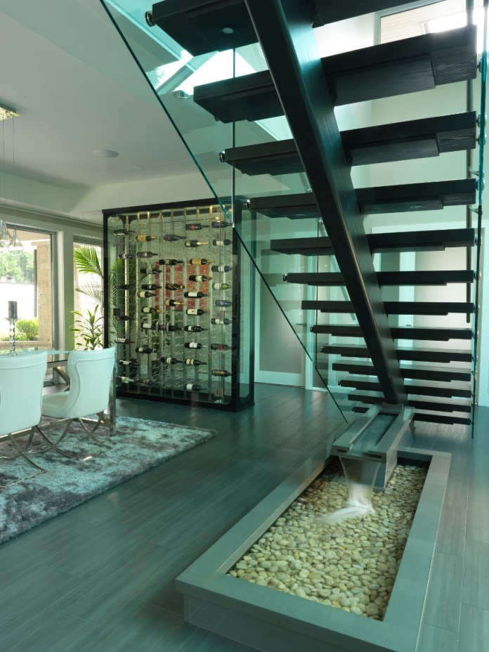 Awesome wine room glassed