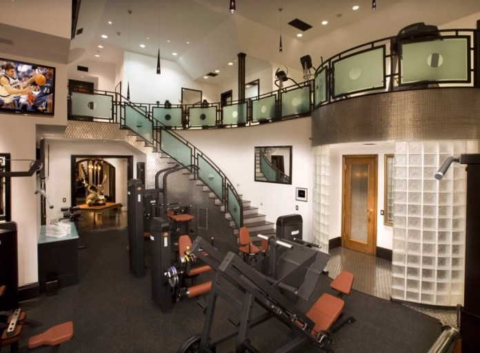 Modern Home Gym with Loft