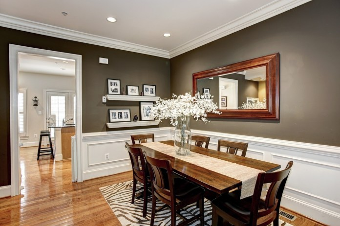 Traditional Dining Room with Crown molding