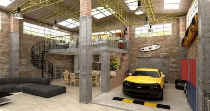Urban Industrial Loft Apartmen