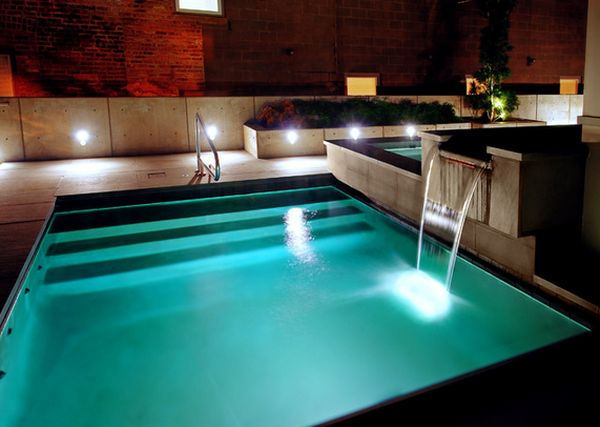 contemporary-swimming-pool-water-falling-feature