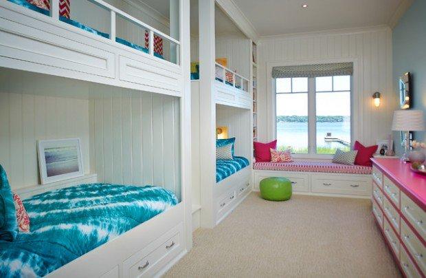 loft beach style kids bedroom