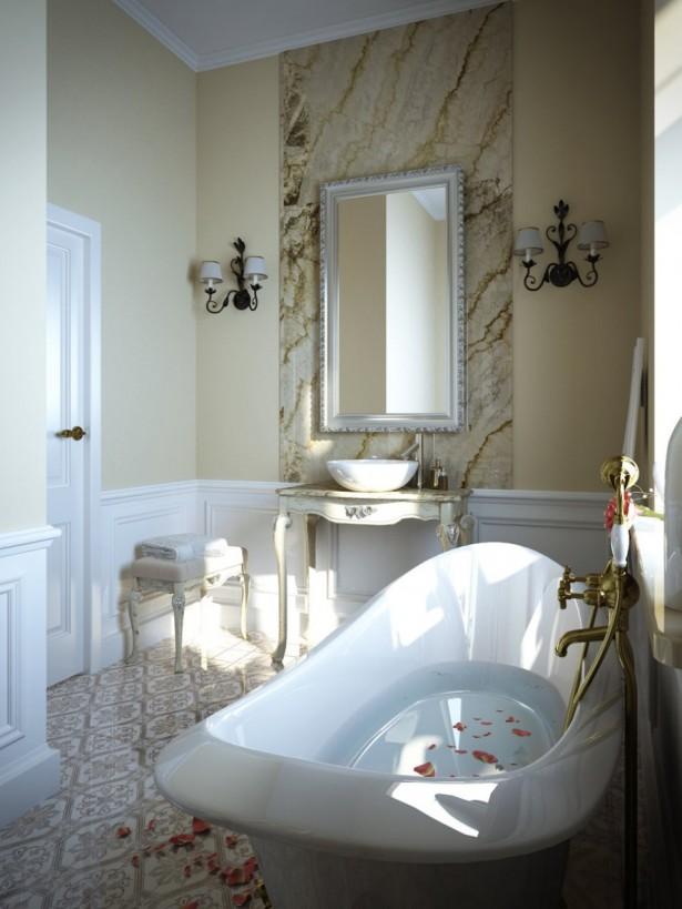 small luxurious bathroom