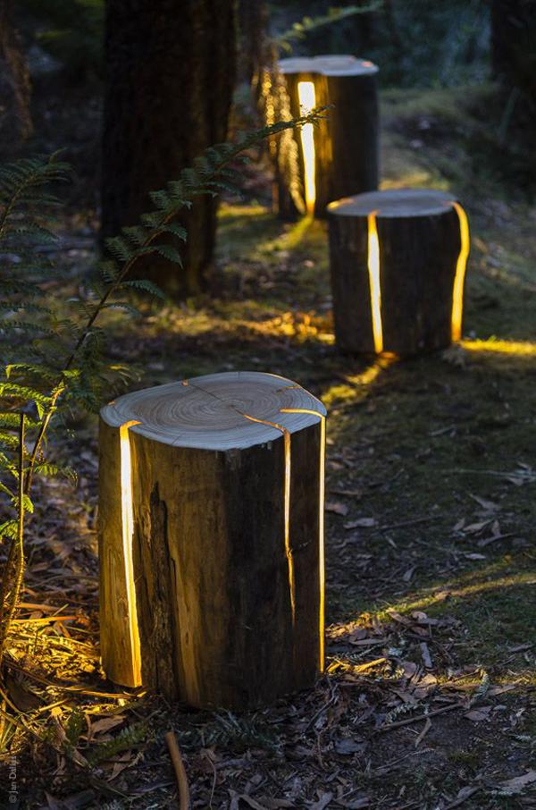 stump-DIY-garden-path-lighting