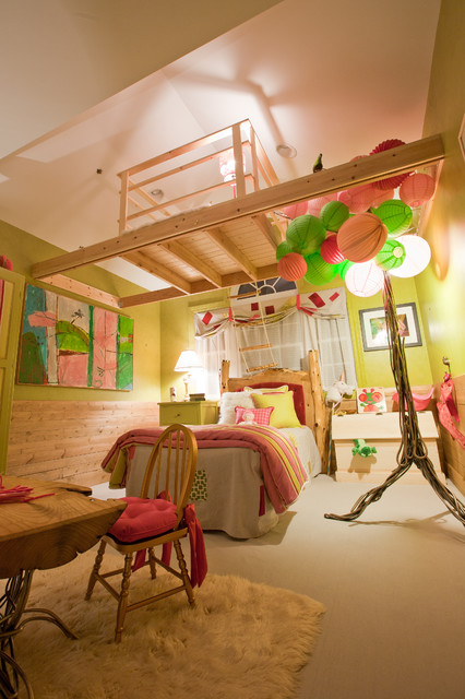 A Treehouse in an Enchanted Forest rustic-kids
