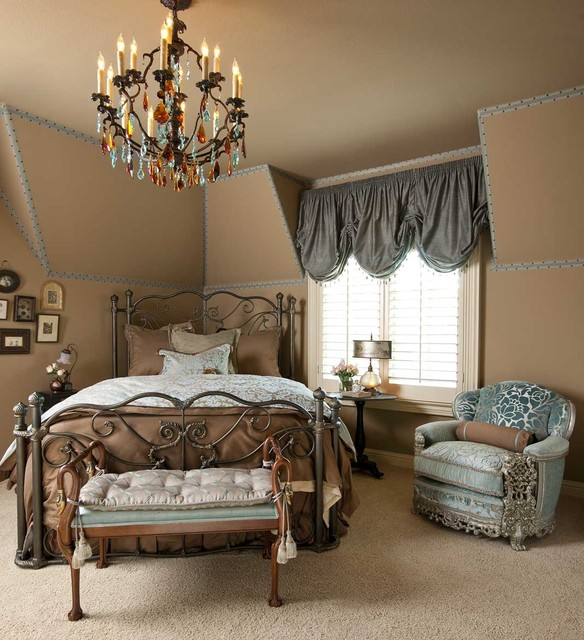 Blue and Beige Guest Bedroom
