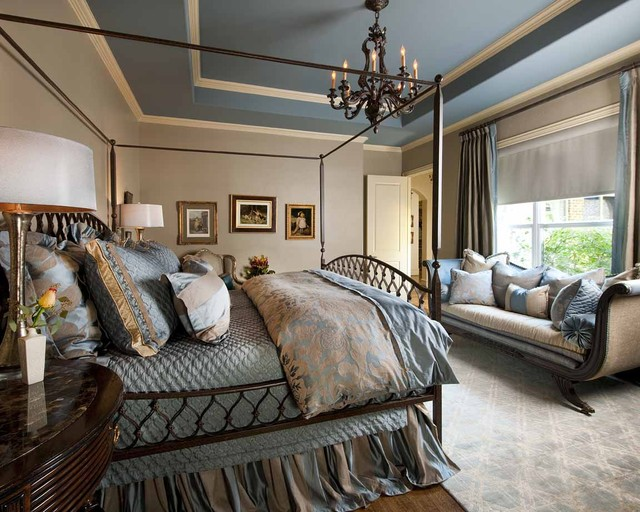Blue and Beige Master Bedroom
