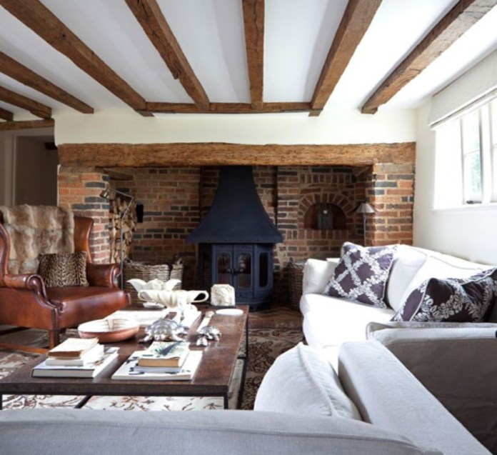 Bright Rustic Living Room