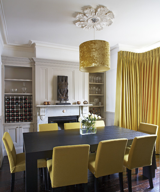 Gold Dining Room contemporary-dining-room