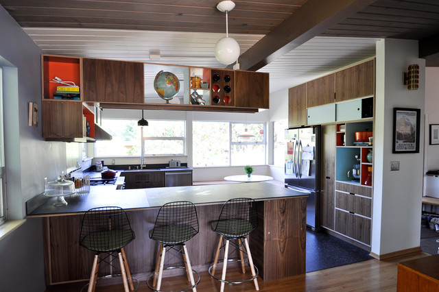 Mid Century Modern Kitchens Home Design Ideas